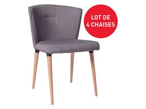 chaises conforama soldes lot de 4 chaises en tissu heidi pas cher chaises conforama ventes pas cher