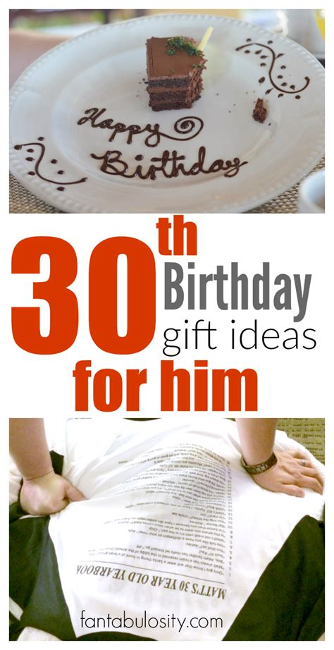 30th birthday gift ideas for him fantabulosity