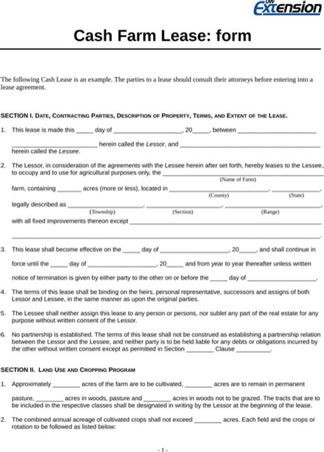 farm partnership agreement template wisconsin rental agreement for free formtemplate