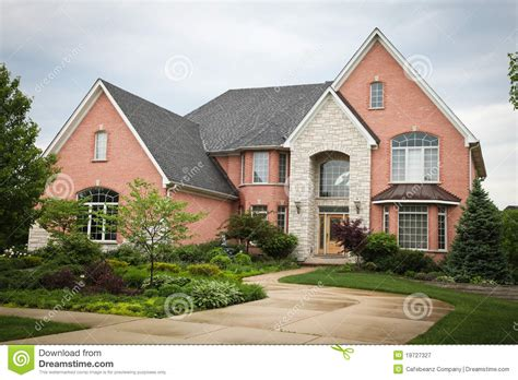red brick house red brick house royalty free stock photography image 19727327