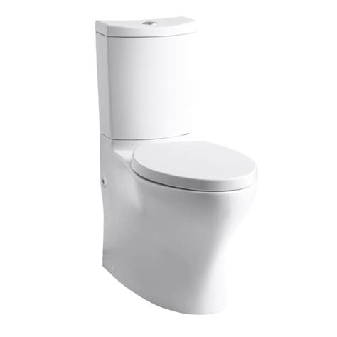 dual flush comfort height toilet kohler persuade comfort height skirted two piece elongated