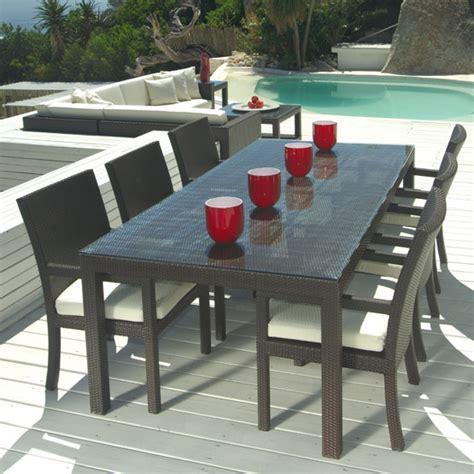 mango home outdoor wicker  piece patio dining set