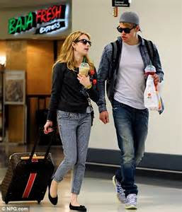 Black Comfortable Flats Emma Roberts And Chord Overstreet Jet Off On Their Second