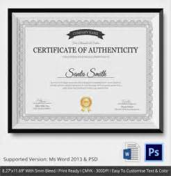 Certification Letter Authenticity sample certificate of authenticity template 29 documents in pdf