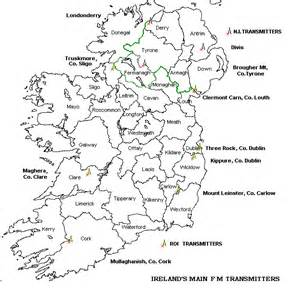 County Map Of Ireland Outline by Blank Map Of Ireland Showing The Counties