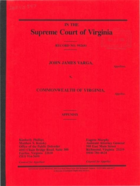 Virginia Judiciary Search Virginia Supreme Court Records Volume 260 Virginia Supreme Court Records