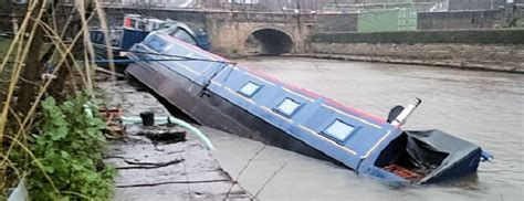 canal boat crash preparing for a flood tips from river canal rescue