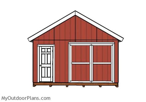 16 X 24 Shed Plans by 16x24 Gable Shed Roof Plans Myoutdoorplans Free