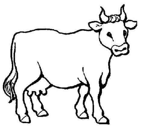 imagenes para colorear vaca dibujo de vaca 3 para colorear dibujos net