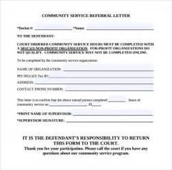 Community Service Template Word by Sle Community Service Letter 22 Free