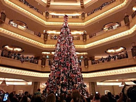 emirates palace christmas tree christmas trees at luxury hotels around the world pursuitist