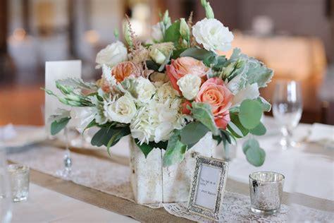 peach and green centerpiece elizabeth anne designs the