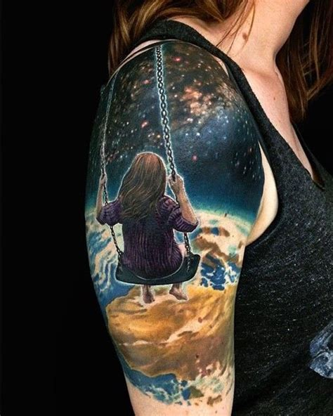 outer space tattoo 40 space ideas for astronomy dzine mag