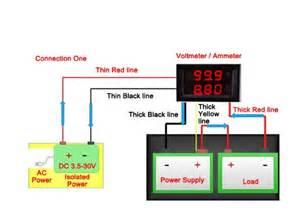 drok dc voltmeter ammeter dual display drok