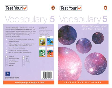 Test Your Vocabulary Watcyn 1 penguin test your vocabulary 5 advanced