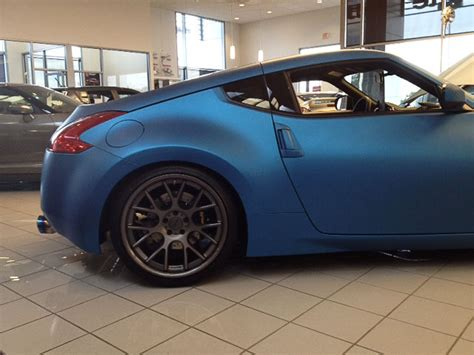 nissan 370z custom blue spotlight east nissan s custom matte blue 370z