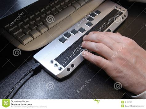 Blind Brail Braille Keyboard Stock Image Image Of Disabled Braille