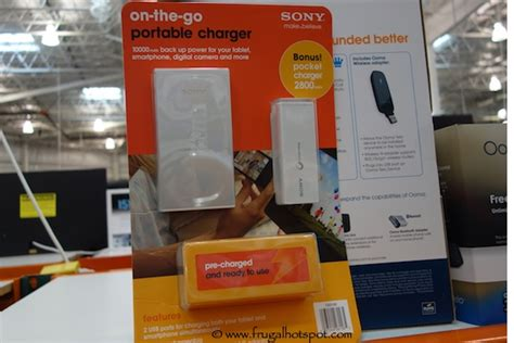 Ac Mini Portable 2 Layer Bonus Adaptor Ac Portable costco sale sony on the go portable charger 59 99