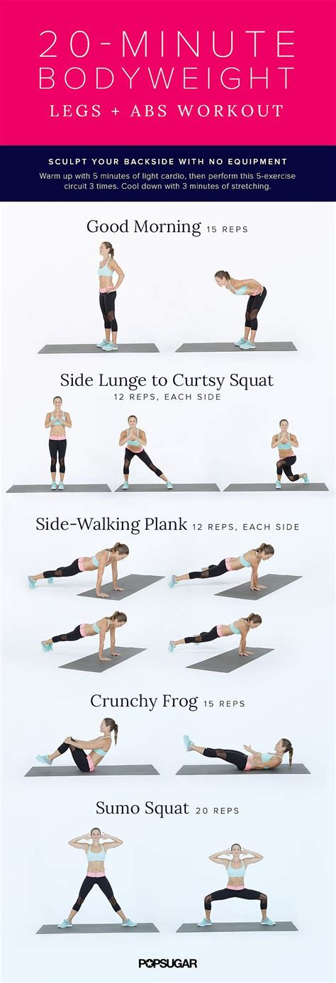 20 minute legs abs bodyweight workout get it right get it tight exercise workout no