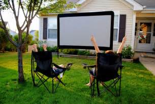 Outdoor movie projector and screen rooms to rent for