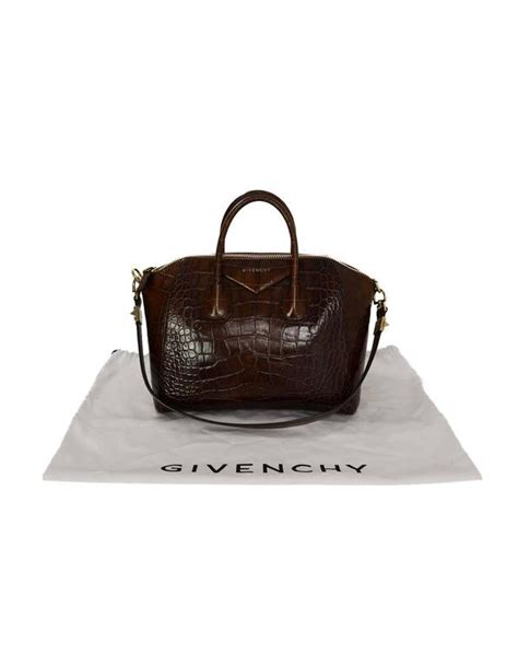Givenchy Antigona Croco 1081 L givenchy brown croc embossed medium antigona bag ghw for