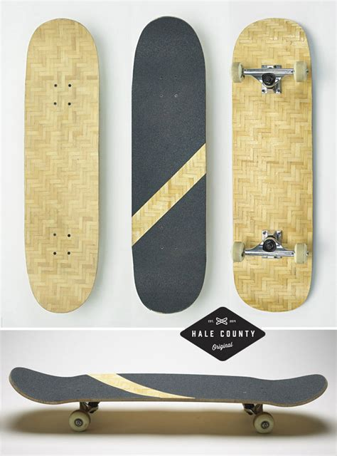 makelab herobike weave durable bamboo composite skateboards