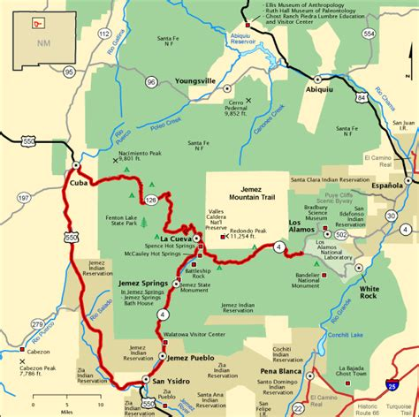 national scenic byways jemez mountain trail map america s byways