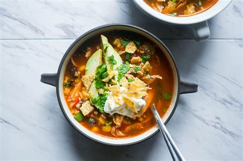 pressure cooker tortilla soup recipe dishmaps