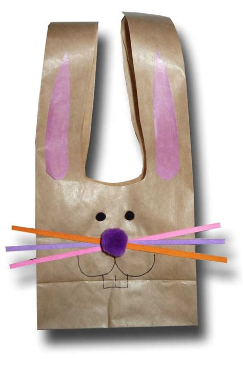 Paper Bag Bunny Craft - paper crafts for children 187 easter bunny paper bags