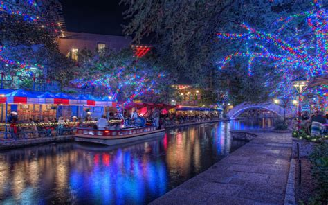 in san antonio lights riverwalk
