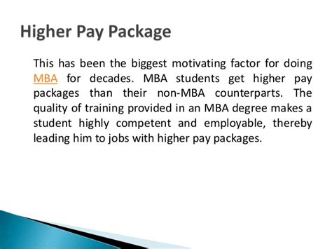 Salary Package For School Mba by Top 10 Reasons To Pursue An Mba