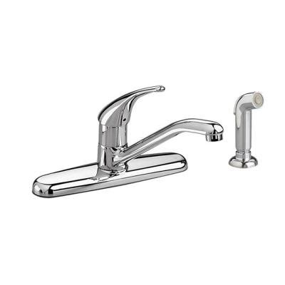 American Standard Colony Soft Kitchen Faucet American Standard Colony Soft Single Handle Standard Kitchen Faucet With Side Sprayer In