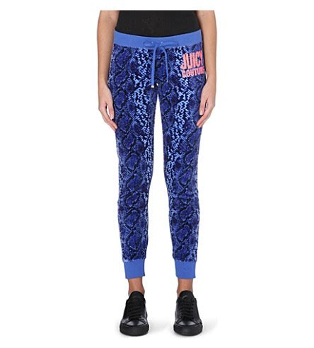 bright patterned joggers juicy couture snake pattern velour jogging bottoms