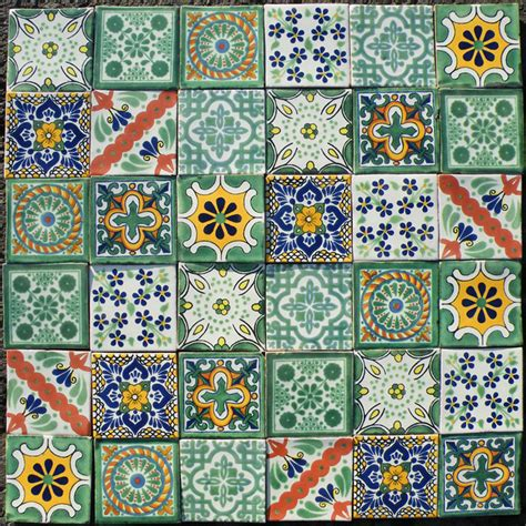Mexican Handmade Tiles - mexican handmade tiles mediterranean decorative