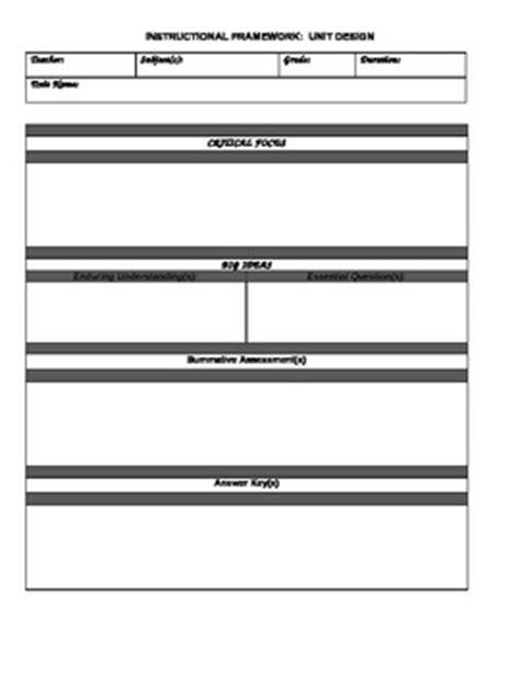 otes template for unit lesson plans for social studies by