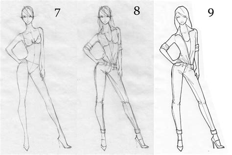 Drawing Figures by How To Draw A Fashion Figure Fashion