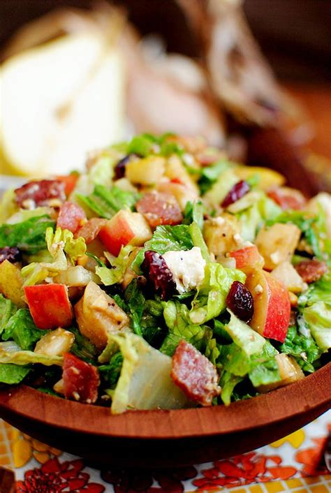 autumn chopped salad recipe bacon lady and poppies