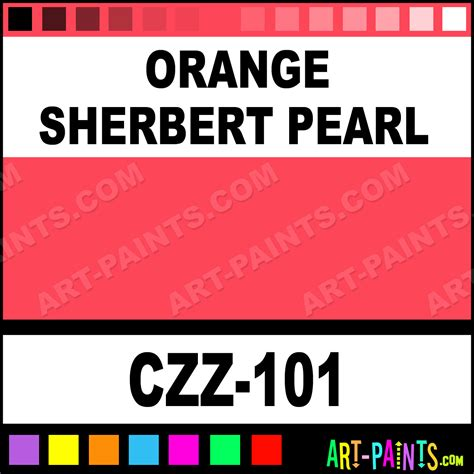 orange sherbert pearl carizzmatics airbrush spray paints czz 101 orange sherbert pearl paint