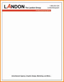 8 it company letterhead format ledger paper