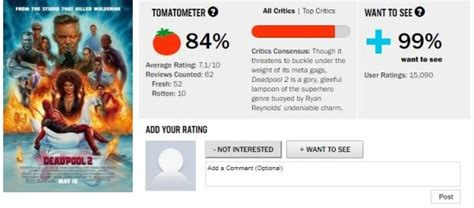 deadpool 2 review rotten tomatoes deadpool 2 gets 84 per cent score on rotten
