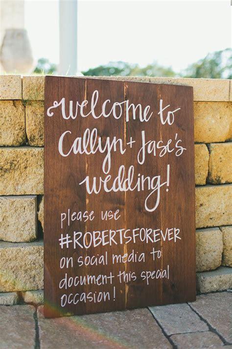 wedding hashtag  popular wedding trend