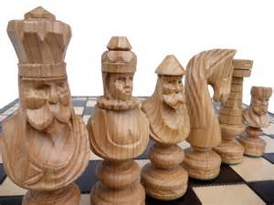Unique Chess Pieces by Unique Handmade Large Wooden Chess Set 60x60cm By Stylishchess