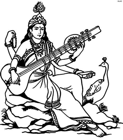 goddess saraswati coloring book goddess saraswati