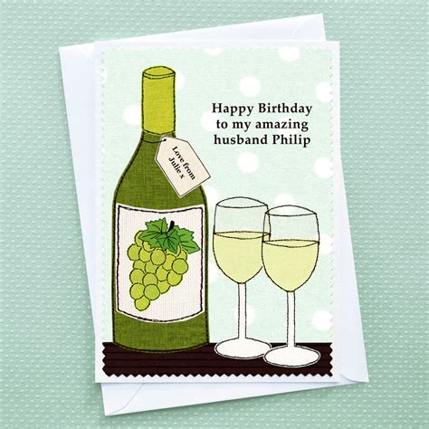 wine birthday birthday wine personalised card by jenny arnott cards