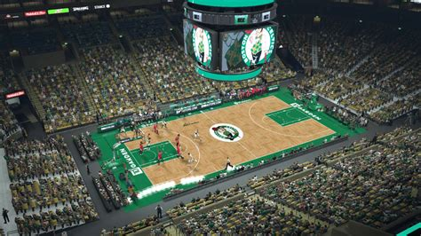 Td Garden Layout 2k Mods By Iron Td Garden Boston Celtics Court With Dornas And Stanchion Design
