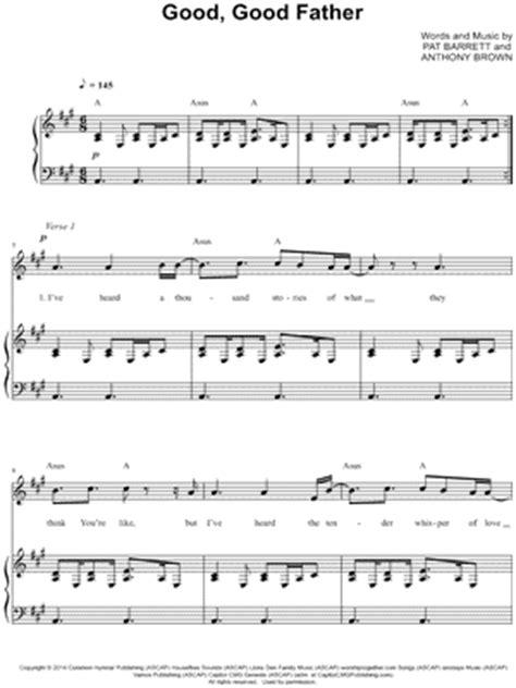 good good father sheet music direct chord charts for good good father good good father