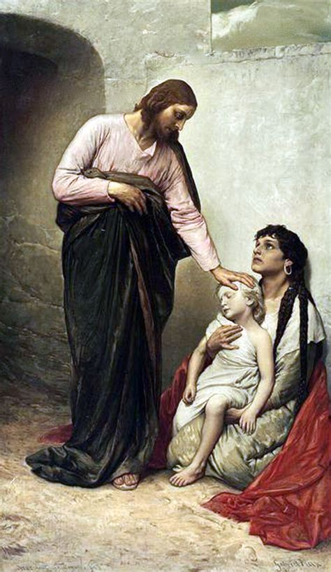 Superb Christ The Healer Church #5: Gabriel-Max-Jesus-healing-the-sick-525w.png