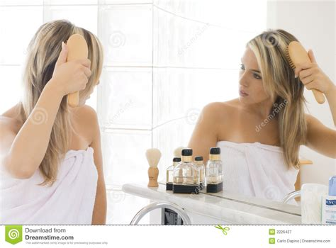 bathroom blonde blond in bathroom royalty free stock photography image 2226427