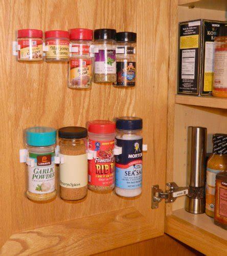 Spicestor Organizer Rack 16 Large Cabinet Door Spice Clips Cabinet Door Spice Organizer