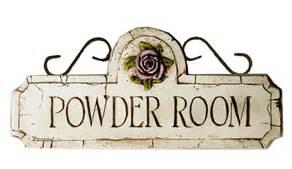 Powder Room Plaque Powder Room Sign Powder Room Plaque Powder Room Decor